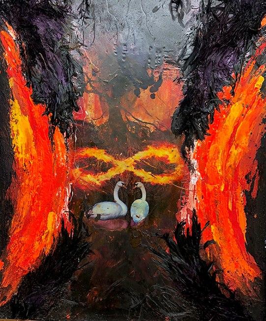 cygnes infini chayan khoi peintre artiste iranien