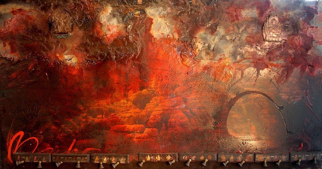 les moine de osho chayan khoi peintre artiste iranien