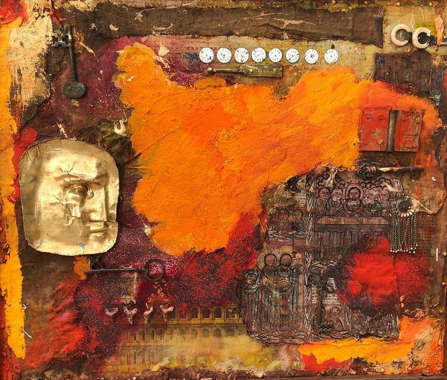 orange yoga chayan khoi peintre artiste iranien